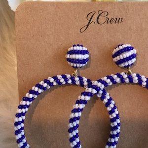 J. Crew Jewelry - 🆕J. Crew Beaded Hoop Earrings